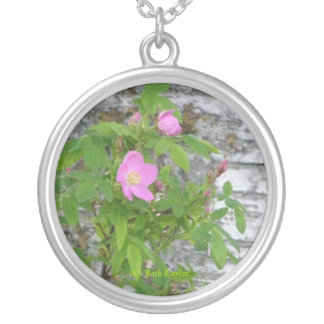 Alaska Rose #12 Silver Plated Necklace