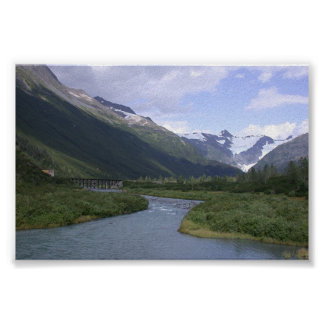 Alaska Scenic w/Glacier Poster