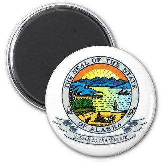 Alaska Seal 2 Inch Round Magnet