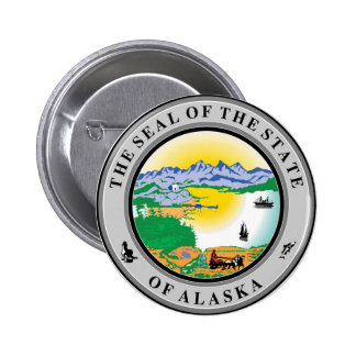 Alaska seal united states america flag symbol repu 2 inch round button