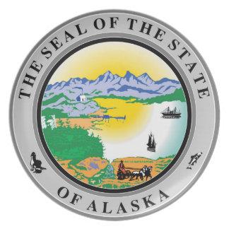 Alaska seal united states america flag symbol repu dinner plate