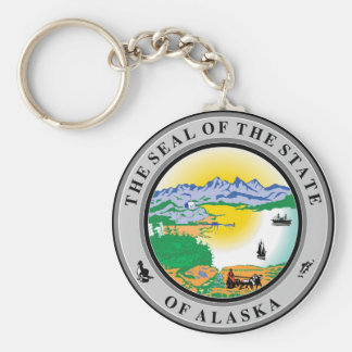 Alaska seal united states america flag symbol repu keychain