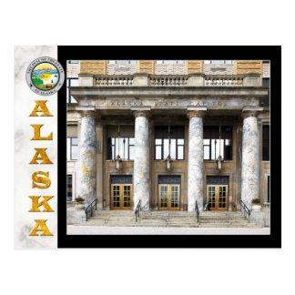 Alaska State Capitol building in Juneau Postcard