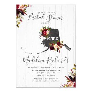 Alaska State Destination Bridal Shower Invitation