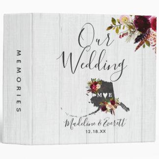 Alaska State Destination Wedding Photo Album Binder
