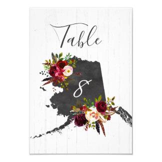 Alaska State Destination Wedding Table Numbers