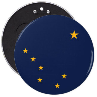 Alaska State Flag 6 Inch Round Button
