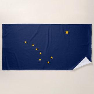 Alaska State Flag Design on a Beach Towel