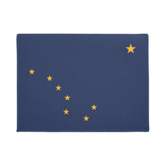 Alaska State Flag Door Matt Doormat