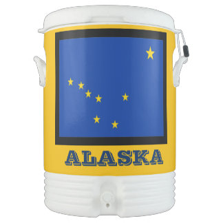 Alaska State Flag Igloo Cooler by Janz