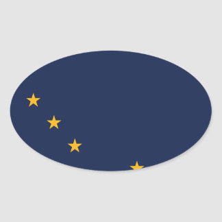 Alaska State Flag Oval Sticker