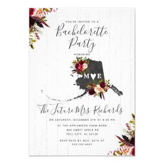 Alaska State Floral Bachelorette Party Invitation