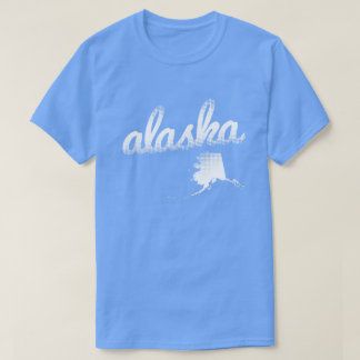 Alaska state in white T-Shirt