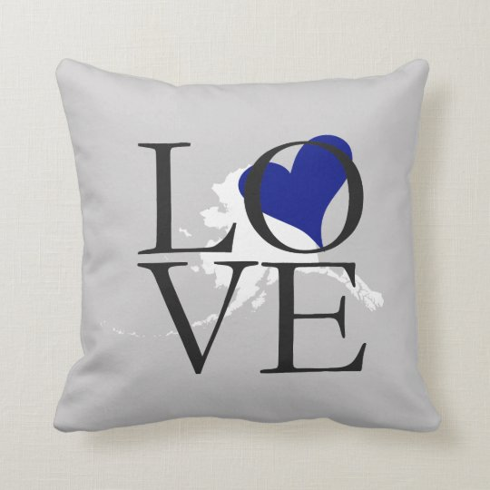 Alaska State Love Pillow