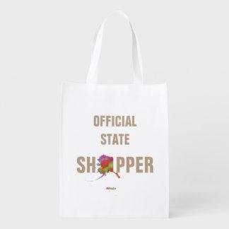 Alaska State Map-1 Grocery Bag