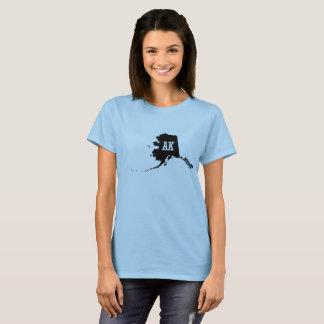 Alaska State Map AK Abbreviation Women's T-Shirts