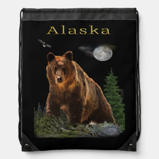 Alaska State merchandise Drawstring Bag