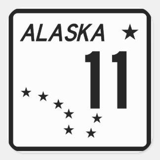 Alaska State Route 11 Square Sticker
