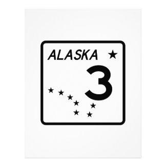 Alaska State Route 3 Customized Letterhead