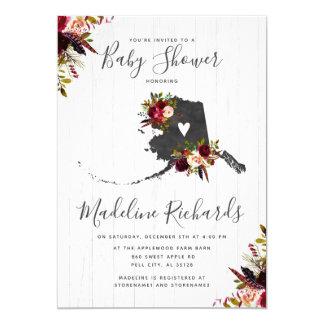 Alaska State Rustic Barn Baby Shower Invitation