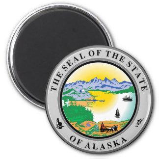 Alaska State Seal 2 Inch Round Magnet