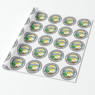 Alaska State Seal Wrapping Paper