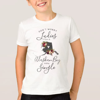 "Alaska State Wedding Ring Bearer ""Still Single"" T-Shirt"