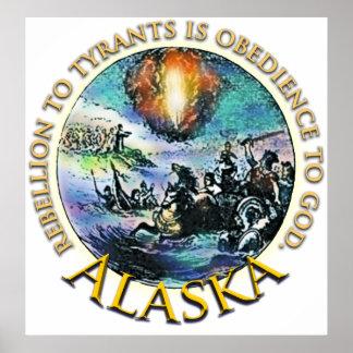Alaska Tea Party Poster