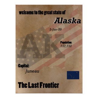 Alaska The Last Frontier Classic Poster
