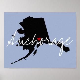 Alaska Town Poster