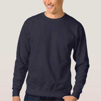 Alaska USA  Embroidered Basic navy Blue Sweatshirt