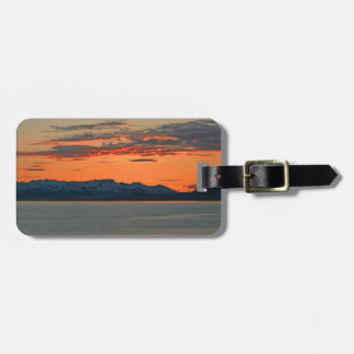 Alaska Vibrant Orange Sunset Luggage Tag