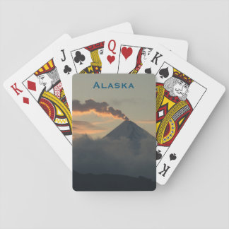 Alaska Volcano at Sunset Playing Cards