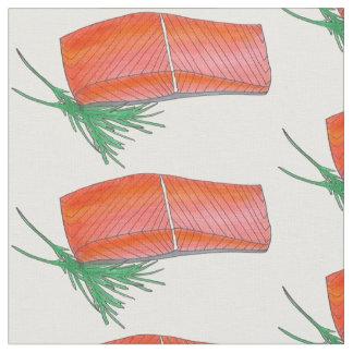 ALASKA Wild Alaskan Salmon Fish Filet Seafood Food Fabric