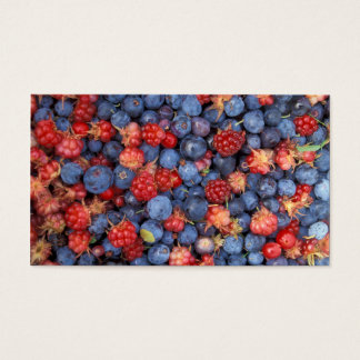 Alaska Wild Berries Fruits Business Card