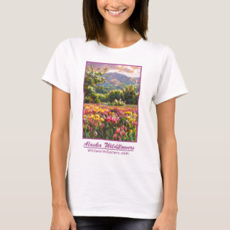 Alaska Wildflowers Tee Shirt - Shooting Stars