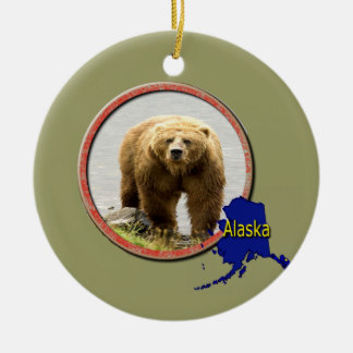 Alaska Wildlife Ceramic Ornament