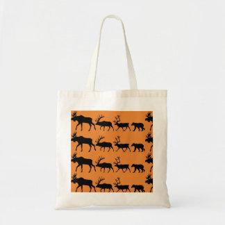 Alaska wildlife tote bag
