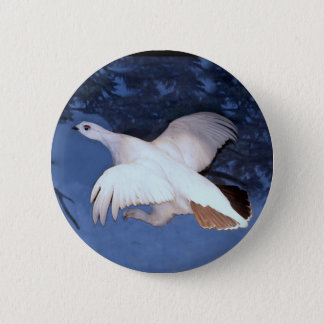 Alaska Willow Ptarmigan 2 Inch Round Button