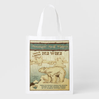 Alaska Wine Label, Ice Wine, grocery bag