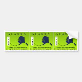Alaska Zombie Hunting Permit Bumper Sticker