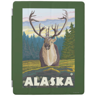 AlaskaCaribou in the Wild Vintage Travel iPad Cover