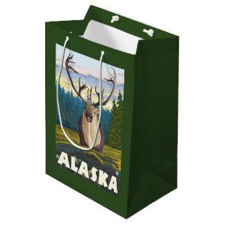 AlaskaCaribou in the Wild Vintage Travel Medium Gift Bag