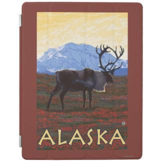 AlaskaCaribou Vintage Travel Poster iPad Cover