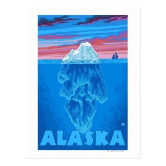 AlaskaIceberg Vintage Travel Poster Postcard