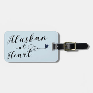 Alaskan At Heart Luggage Tag Template, Alaska