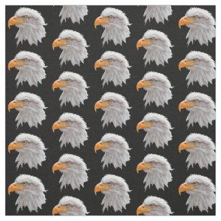 Alaskan Bald Eagle Fabric (Black)