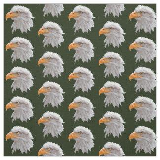 Alaskan Bald Eagle Fabric (Dark Green)