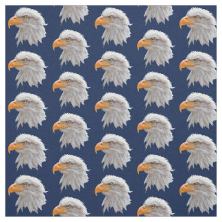 Alaskan Bald Eagle Fabric (Navy)