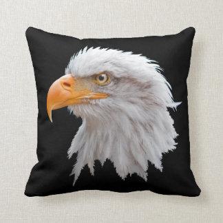 Alaskan Bald Eagle Pillow (Black)